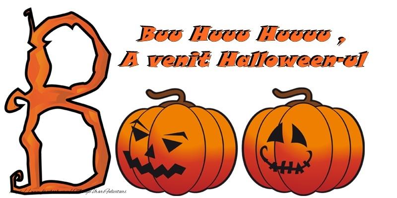 Felicitari de Halloween - Bu Huu Huu, A venit Halloween-ul