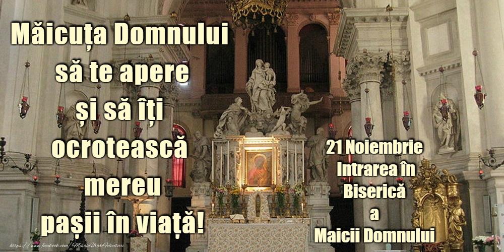 Felicitari de Intrarea Maicii Domnului în Biserică - Domnului Sfântă Marie, roagă-te pentru noi!