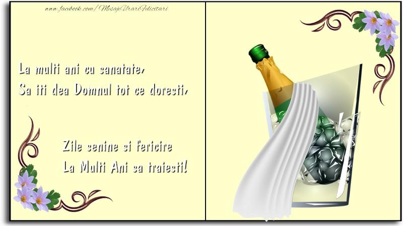 Felicitari de la multi ani - La Multi Ani sa traiesti! - mesajeurarifelicitari.com