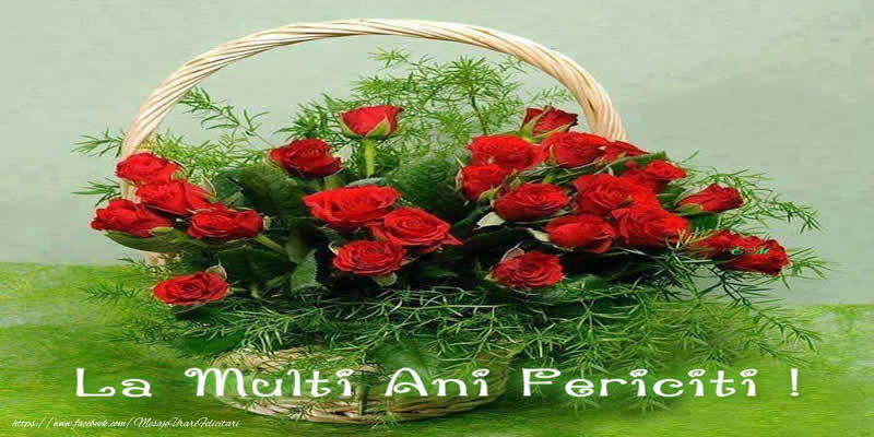 Felicitari de la multi ani cu buchete de flori - La Multi Ani Fericiti!