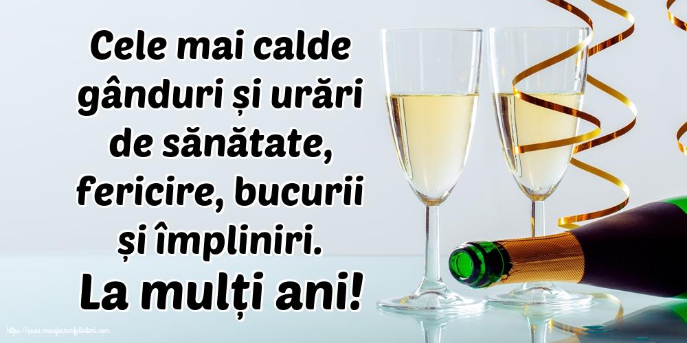 Felicitari de la multi ani cu sampanie - La mulți ani!