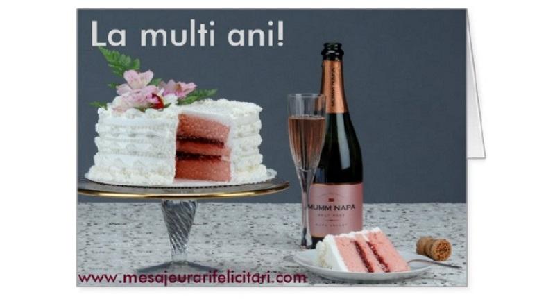 Felicitari de la multi ani cu tort si sampanie - La multi ani!