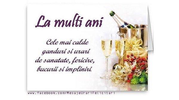 Felicitari de la multi ani - Cele mai calde ganduri si urari de sanatate, fericire, bucurii si impliniri - mesajeurarifelicitari.com