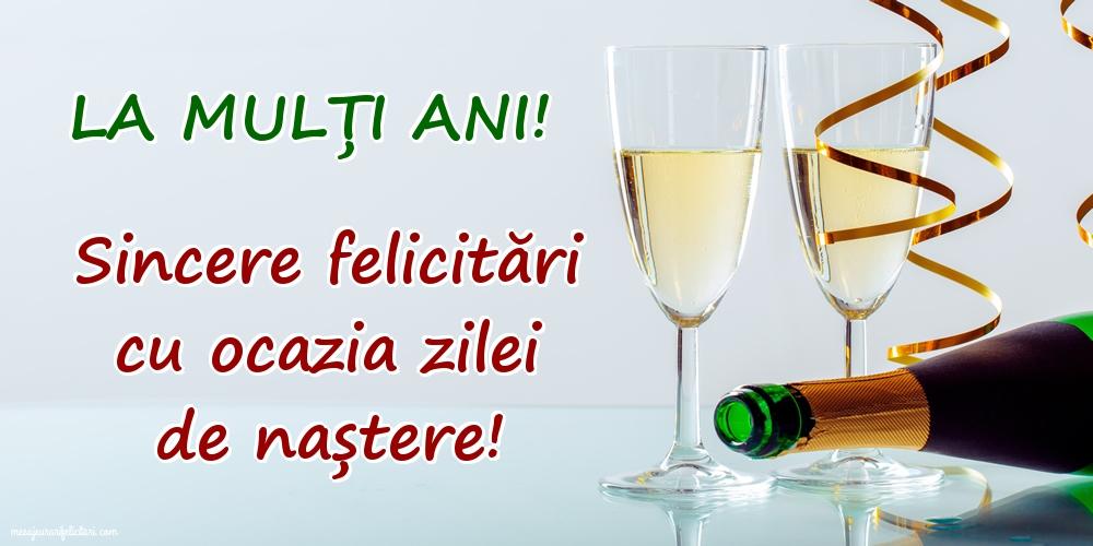 Felicitari de la multi ani - La mulți ani! Sincere felicitări cu ocazia zilei de naștere!