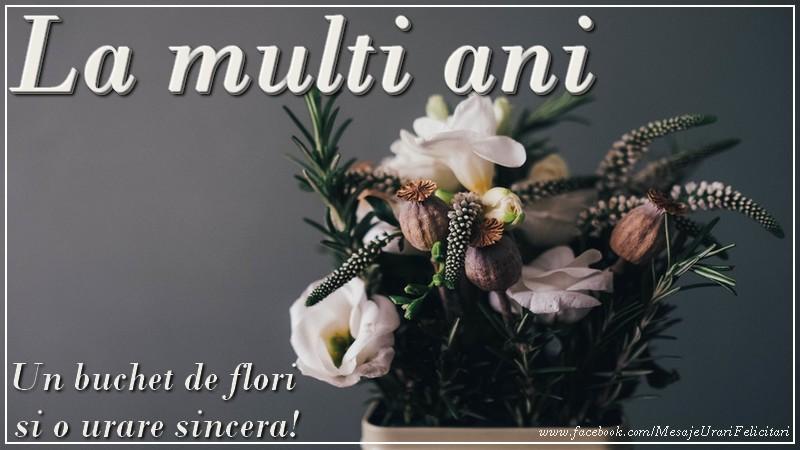 Felicitari de la multi ani cu flori - La multi ani! Un buchet de flori
