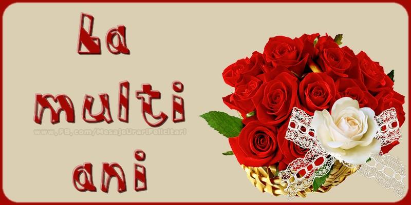Felicitari de la multi ani cu buchete de flori - La multi ani!