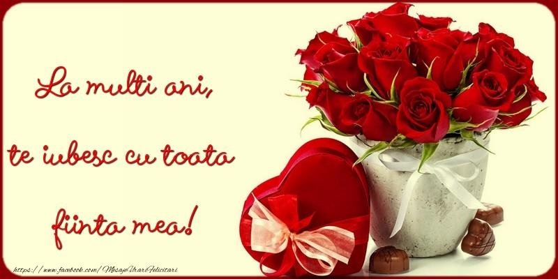 Felicitari de la multi ani cu flori - La multi ani, te iubesc