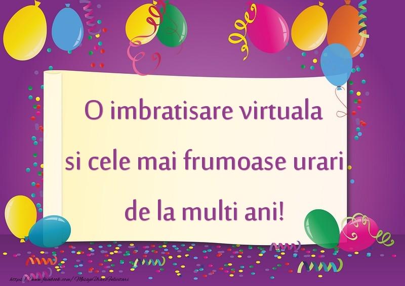 Felicitari de la multi ani - O imbratisare virtuala