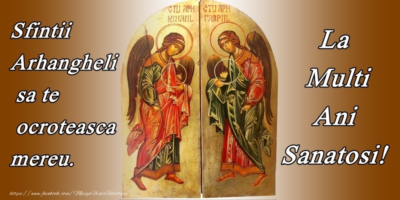 Felicitari de Sfintii Mihail si Gavril crestine - La multi ani de Sfintii Mihail si Gavril!