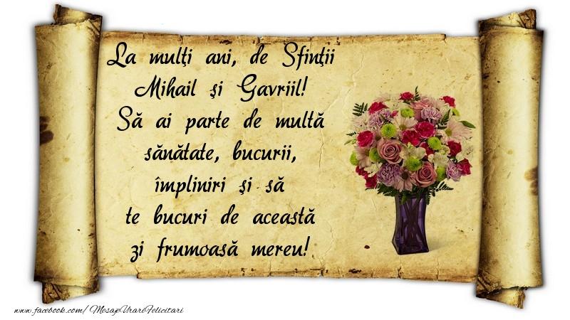 Felicitari de Sfintii Mihail si Gavril - La mulţi ani, de Sfinţii Mihail şi Gavriil