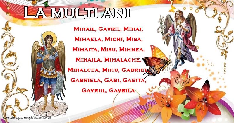 Felicitari de Sfintii Mihail si Gavril - La multi ani!