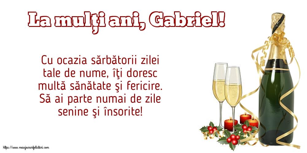 La mulți ani, Gabriel!