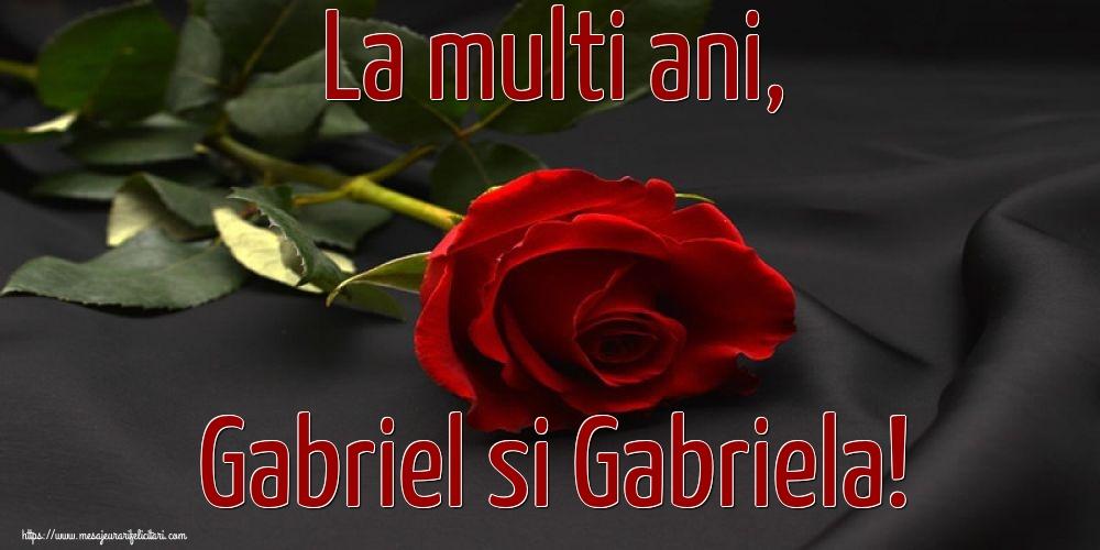 Felicitari de Sfintii Mihail si Gavril cu flori - La multi ani, Gabriel si Gabriela!