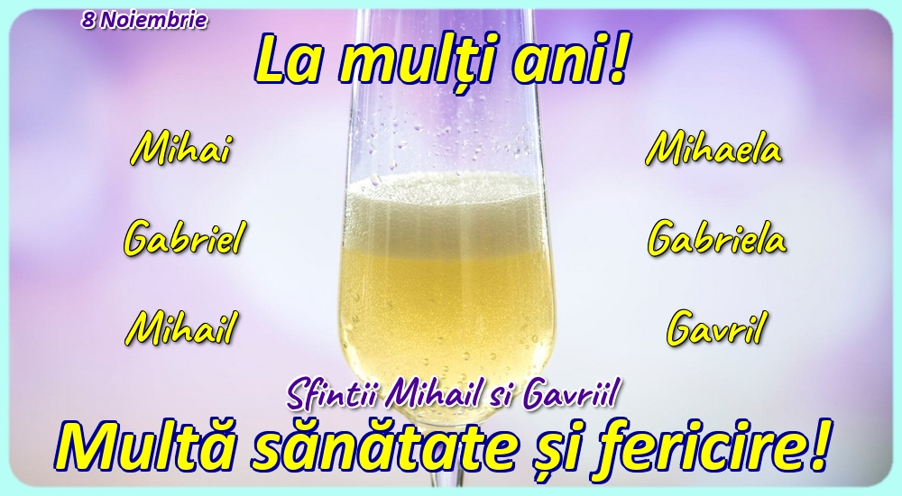 Felicitari de Sfintii Mihail si Gavril cu flori - 8 Noiembrie - Sfintii Mihail si Gavriil