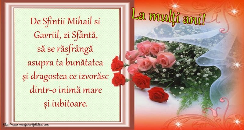 Felicitari de Sfintii Mihail si Gavril cu mesaje - La mulți ani!