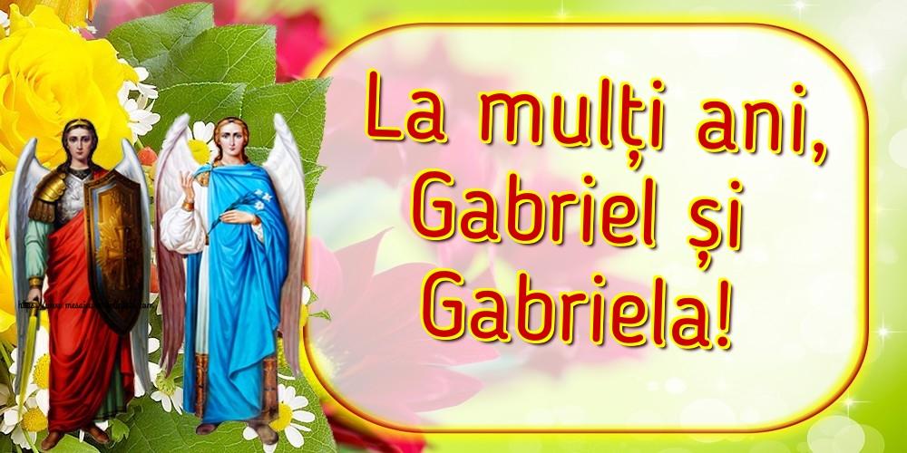Felicitari de Sfintii Mihail si Gavril - La mulți ani, Gabriel și Gabriela!