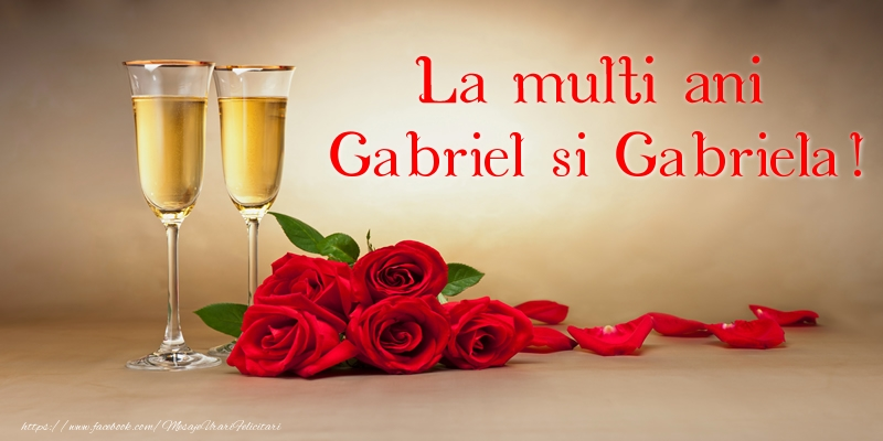 La multi ani Gabriel si Gabriela!