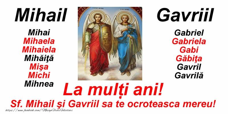 Felicitari de Sfintii Mihail si Gavril - La multi ani pentru toti cei sarbatoriti de Sfintii Mihail si Gavril! - mesajeurarifelicitari.com