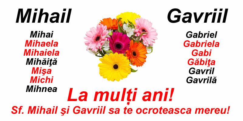 La mulți ani pentru toate numele sarbatorite de Sf. Mihail şi Gavriil!