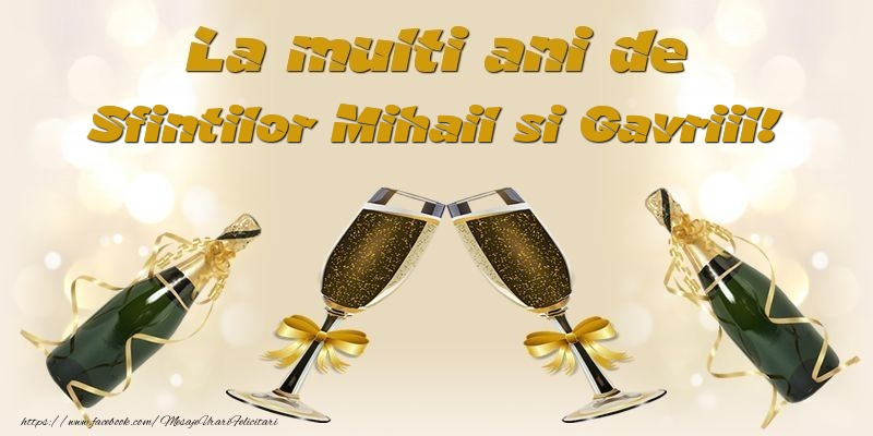 La multi ani de Sfintilor Mihail si Gavriil!
