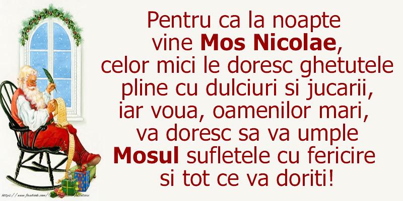 Cele mai apreciate felicitari de Mos Nicolae - De Mos Nicolae...