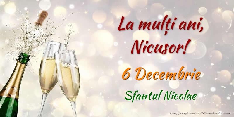 Felicitari de Mos Nicolae - La multi ani, Nicusor! 6 Decembrie Sfantul Nicolae