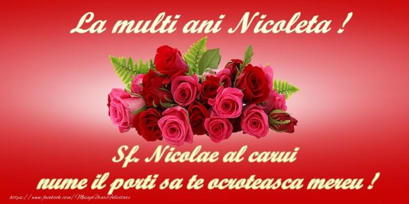 Cele mai apreciate felicitari de Mos Nicolae - La multi ani, Nicoleta!