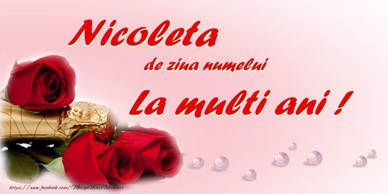 Nicoleta, de ziua numelui, La multi ani!