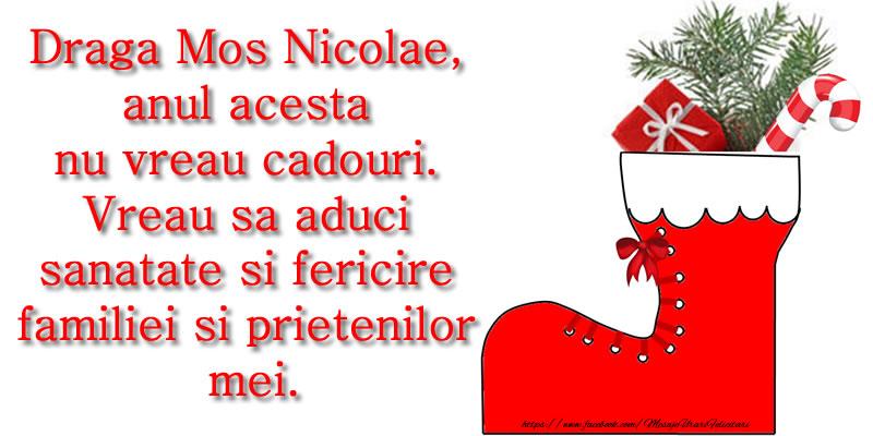 Scrisoare catre Mos Nicolae!