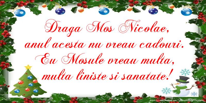 Felicitari de Mos Nicolae - Scrisoare catre Mos Nicolae - mesajeurarifelicitari.com