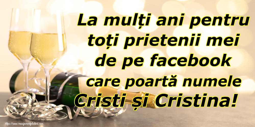 Felicitari de Nasterea Domnului - La mulți ani pentru toți prietenii mei de pe facebook care poartă numele Cristi și Cristina!