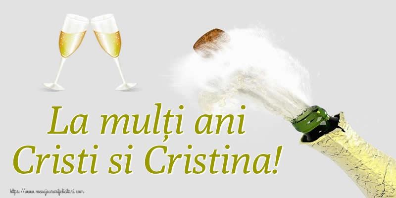 Felicitari de Nasterea Domnului - La mulți ani Cristi si Cristina!