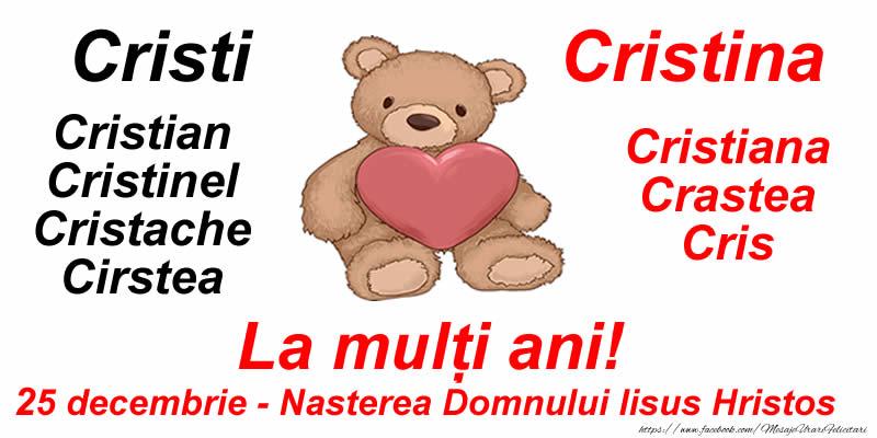 La mulți ani Cristi si Cristina! 25 decembrie - Nasterea Domnului Iisus Hristos