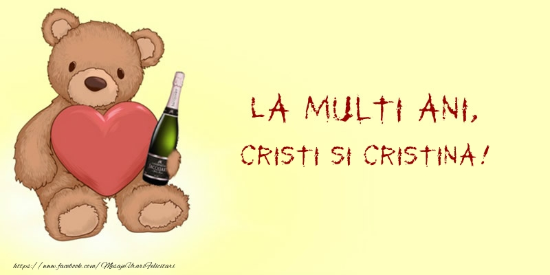 Felicitari de Nasterea Domnului - La multi ani, Cristi si Cristina!