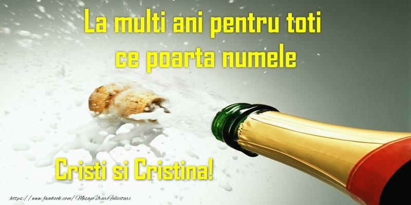 La multi ani pentru toti ce poarta numele Cristi si Cristina!