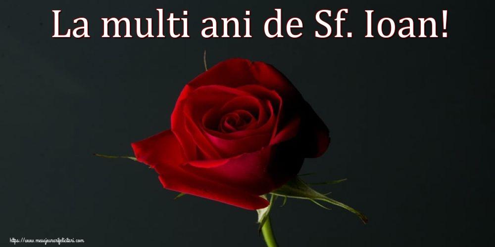Felicitari de Nasterea Sfantului Ioan - La multi ani de Sf. Ioan!