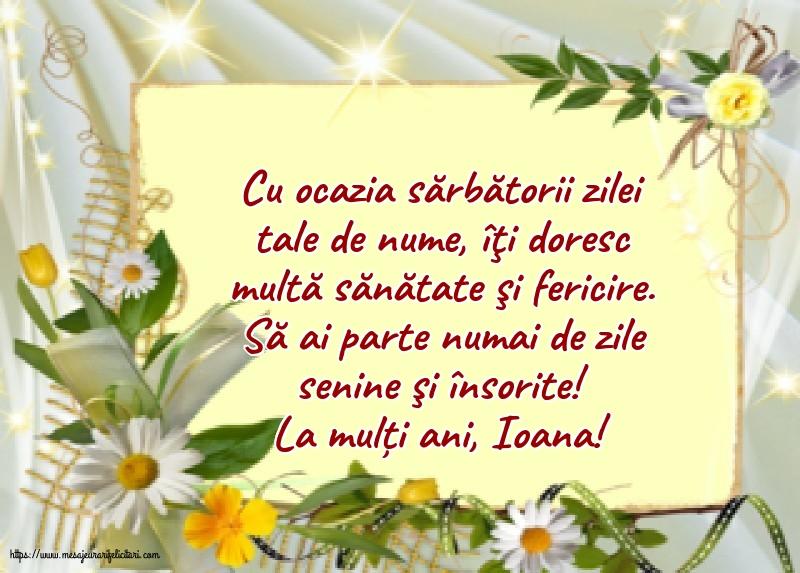 Cele mai apreciate felicitari de Nasterea Sfantului Ioan - La mulți ani, Ioana!