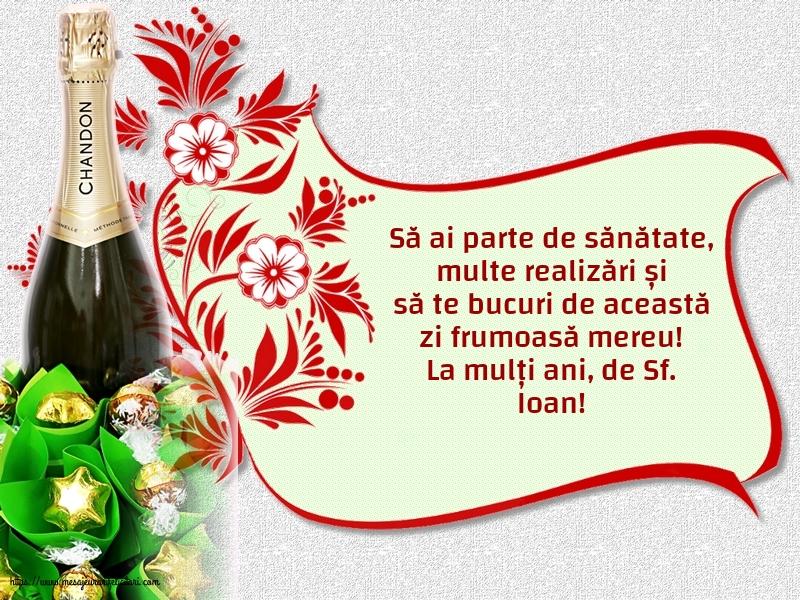 Cele mai apreciate felicitari de Nasterea Sfantului Ioan - La mulți ani, de Sf. Ioan!