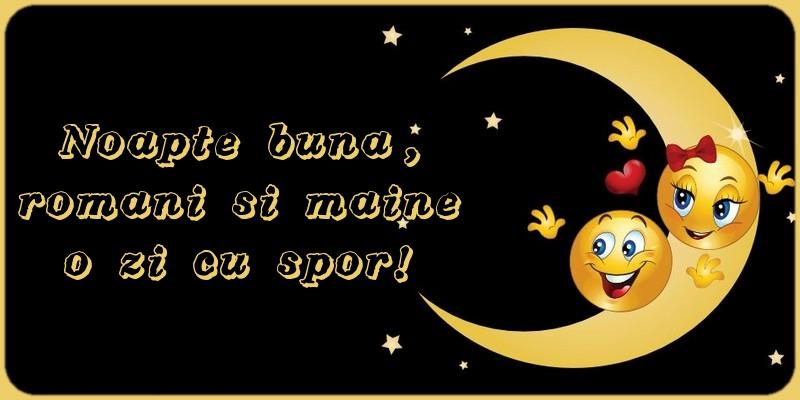 Felicitari de noapte buna - Noapte buna, romani si maine o zi cu spor!