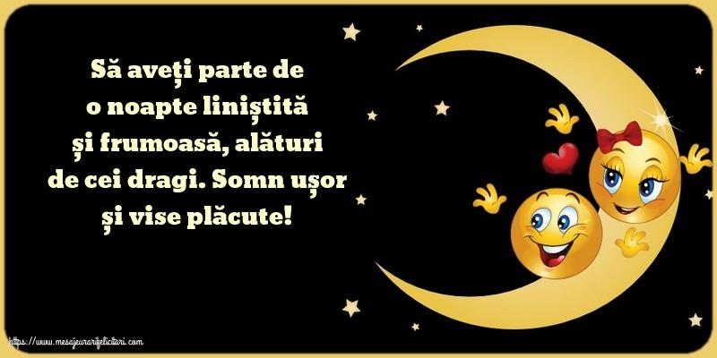 Felicitari de noapte buna - Somn ușor și vise plăcute!