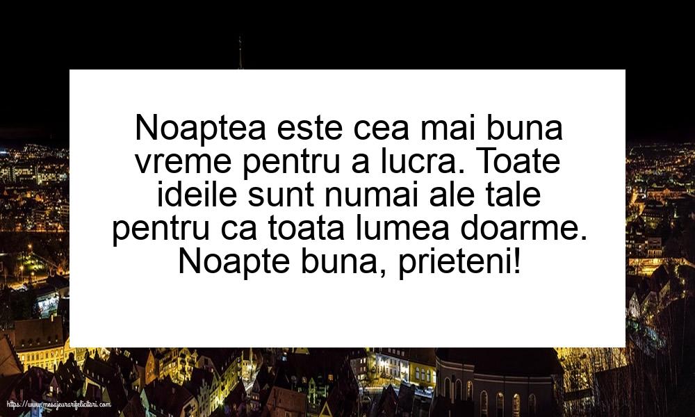 Felicitari de noapte buna - Noapte buna, prieteni!