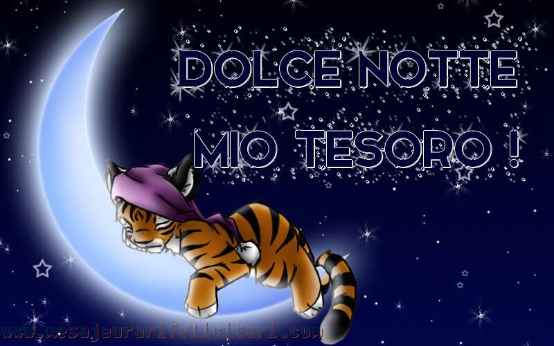 Felicitari de noapte buna in Italiana - Dolce notte mio tesoro!
