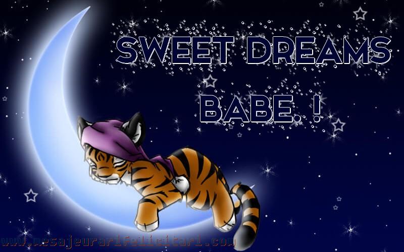 Felicitari de noapte buna in Engleza - Sweet dreams babe.