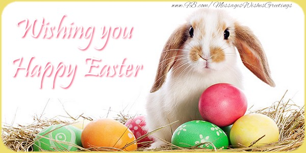 Paste in Engleza - Wishing you Happy Easter