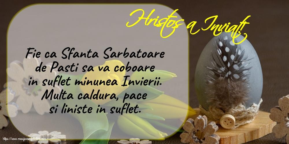 Felicitari de Paste - Hristos a Inviat!