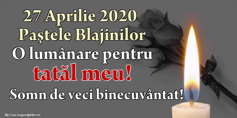 Imagini de Paştele Blajinilor - 27 Aprilie 2020 Paştele Blajinilor O lumânare pentru tatăl meu! Somn de veci binecuvântat!
