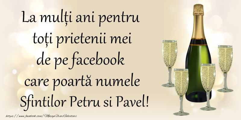 Felicitari de Sfintii Petru si Pavel 2017