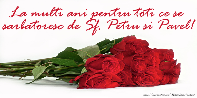 La multi ani pentru toti ce se sarbatoresc de Sf. Petru si Pevel!