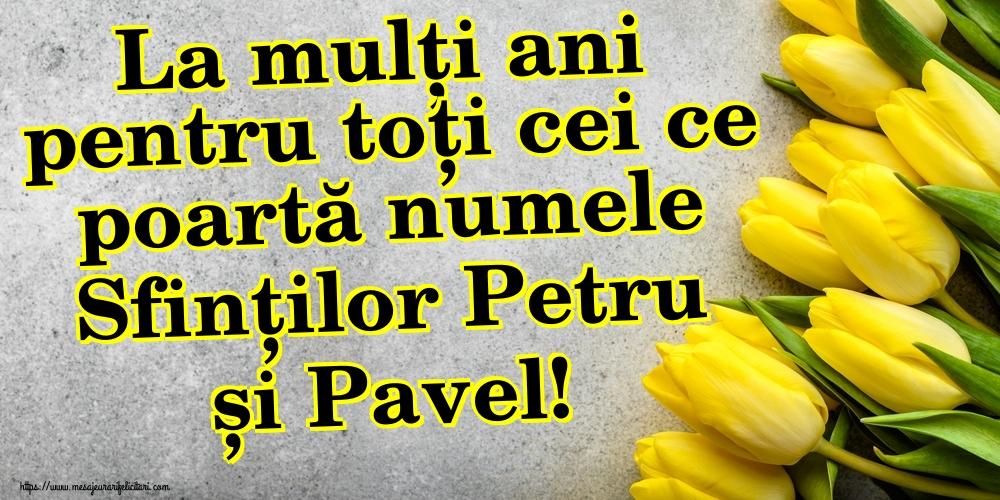 Felicitari de Sfintii Petru si Pavel - La mulți ani pentru toți cei ce poartă numele Sfinților Petru și Pavel!