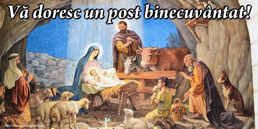 Felicitari de Postul Crăciunului - Vă doresc un post binecuvântat!